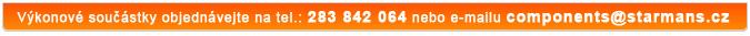 Výkonové součástky objednávejte na tel.: 283 842 064